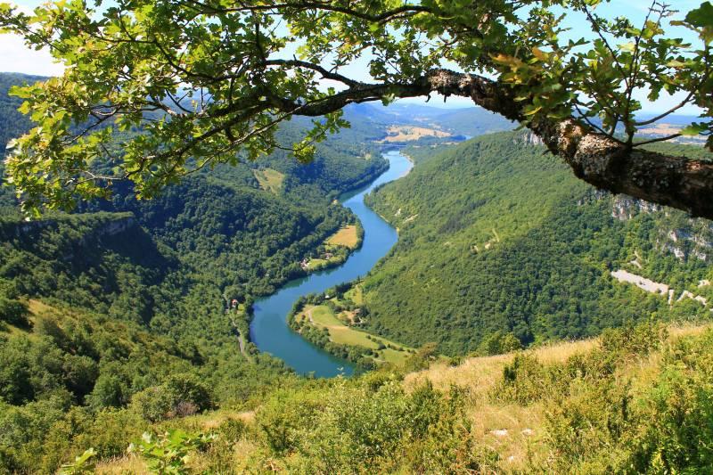 Vue depuis le Mont Balvay, Haut-Bugey, Ain - ©Vincent Allard