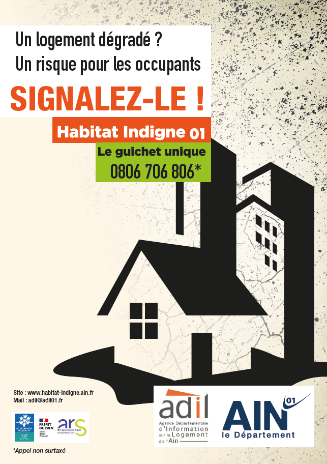 Affiche Habitat indigne -Numéro unique 0806 706 806