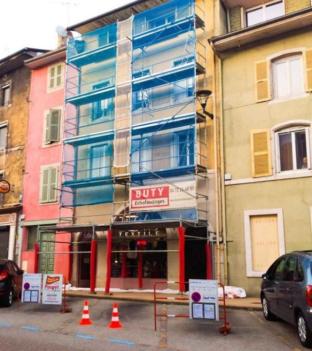 Opération façades Nantua rue du Collège - travaux