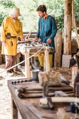 Chantier médiéval du Bugey Montcornelles, Ain - ©Patricia Quentin